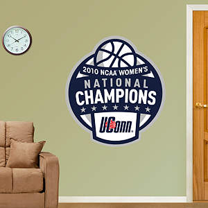 UConn 2010 NCAA Women's Basketball National Champions Logo Fathead Wall Decal